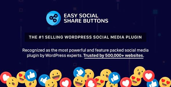 دانلود افزونه وردپرس اشتراک گذاری Easy Social Share Buttons