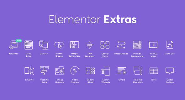 دانلود افزونه وردپرس Elementor Extras برای المنتور