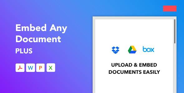 دانلود افزونه وردپرس Embed Any Document Plus
