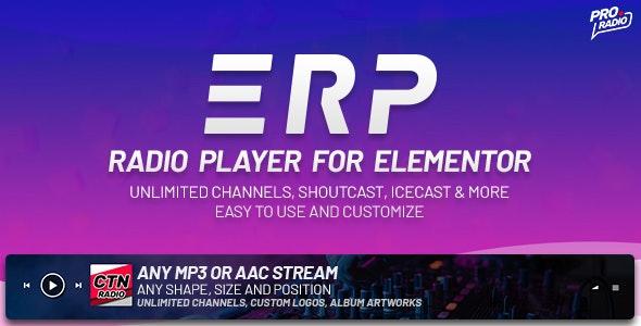دانلود افزونه وردپرس پخش موزیک Erplayer برای المنتور