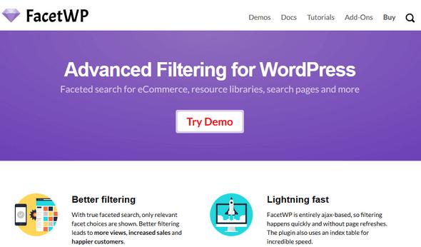 دانلود افزونه وردپرس فیلتر پیشرفته FacetWP