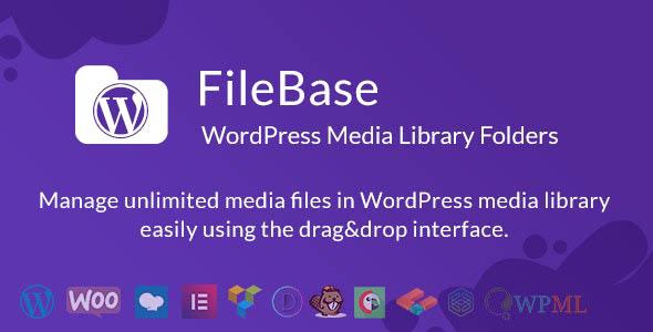 دانلود افزونه وردپرس پوشه های کتابخانه رسانه FileBase