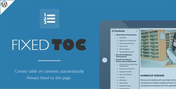 دانلود افزونه وردپرس ساختن فهرست مطالب Fixed TOC