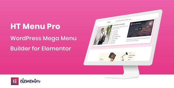دانلود افزونه وردپرس مگامنو HT Menu Pro برای المنتور
