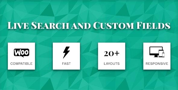 دانلود افزونه وردپرس Live Search and Custom Fields