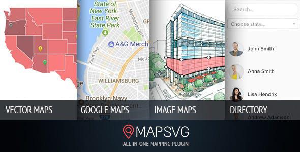 دانلود افزونه وردپرس نقشه MapSVG