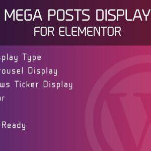دانلود افزونه وردپرس Mega Posts Display for Elementor