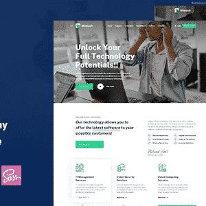 دانلود قالب HTML شرکتی Mintech