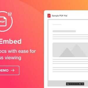 دانلود افزونه وردپرس نمایش فایل پی دی اف PDF Embed