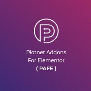 دانلود افزونه وردپرس Piotnet Addons Pro PAFE برای المنتور