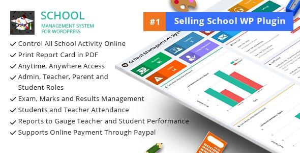دانلود افزونه وردپرس مدیریت مدرسه School Management System