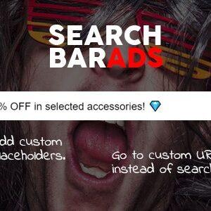 دانلود افزونه ووکامرس Search Bar Ads