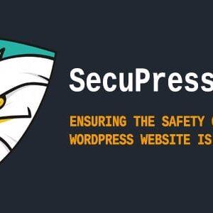 دانلود افزونه وردپرس امنیتی SecuPress Pro