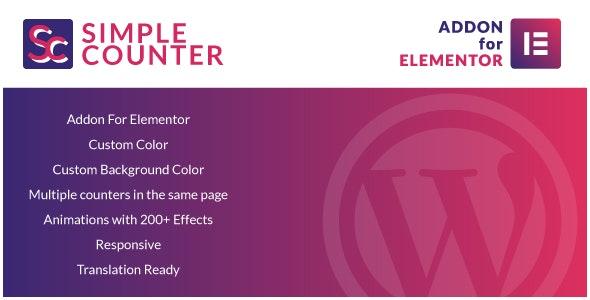 دانلود افزونه وردپرس Simple Counter for Elementor