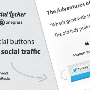 دانلود افزونه وردپرس قفل کردن مطالب Social Locker