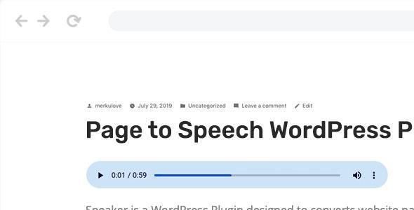 دانلود افزونه وردپرس Speaker – Page to Speech