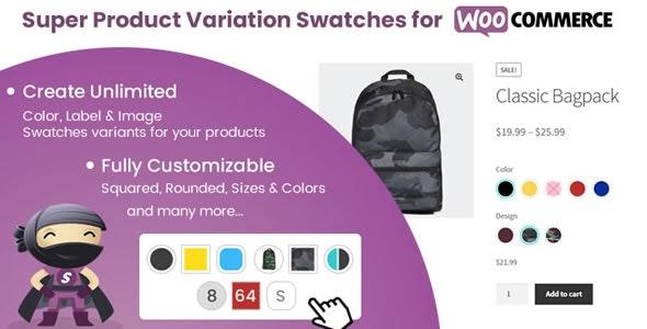 دانلود افزونه ووکامرس Super Product Variation Swatches