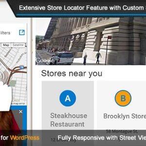 دانلود افزونه وردپرس نقشه فروشگاه ها Super Store Finder