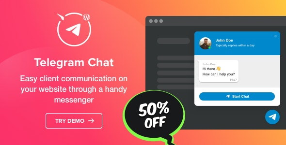 دانلود افزونه وردپرس چت تلگرام Telegram Chat