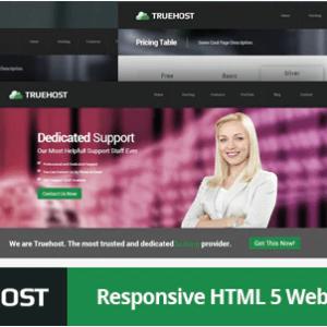 دانلود قالب HTML هاستینگ Truehost