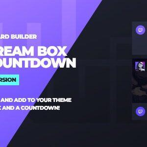 دانلود افزونه وردپرس Twitch LiveStream Box and Countdown