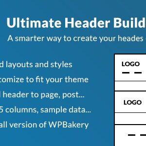 دانلود افزونه وردپرس Ultimate Header Builder برای WPBakery