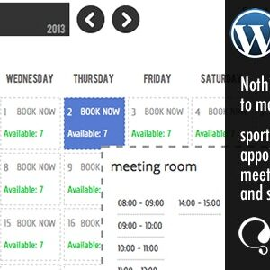 دانلود افزونه وردپرس تقویم رزرو وقت WP Booking Calendar