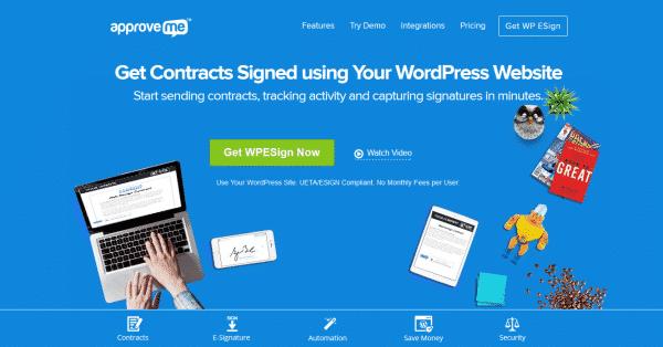دانلود افزونه وردپرس امضای دیجیتال WP Esignature