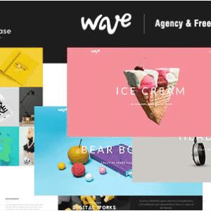 دانلود قالب HTML نمونه کار Wave