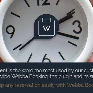 دانلود افزونه وردپرس رزرو قرار ملاقات Webba Booking