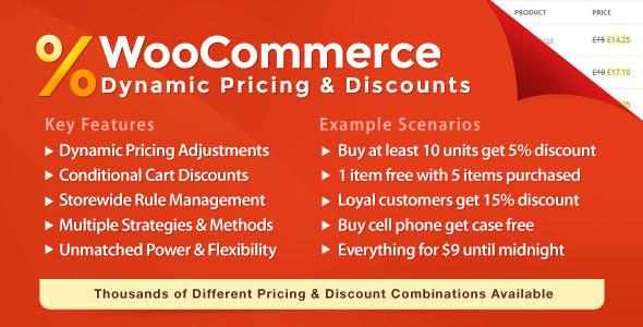 دانلود افزونه ووکامرس WooCommerce Dynamic Pricing & Discounts