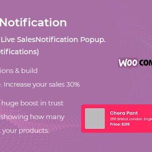 دانلود افزونه ووکامرس WooCommerce Live Sales Notification Pro