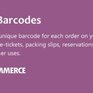 دانلود افزونه ووکامرس ایجاد بارکد WooCommerce Order Barcodes