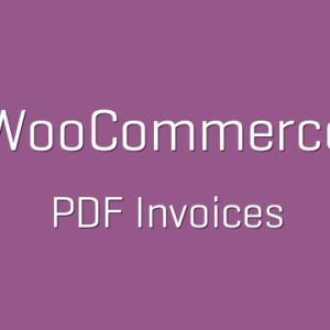 دانلود افزونه ووکامرس WooCommerce PDF Invoices