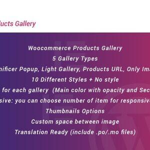 دانلود افزونه ووکامرس WooCommerce Products Gallery برای المنتور