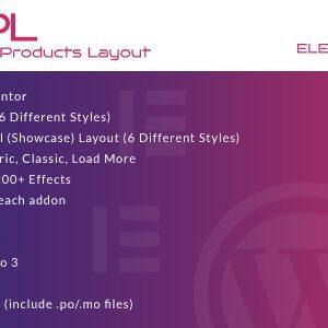 دانلود افزونه ووکامرس WooCommerce Products Layout برای المنتور
