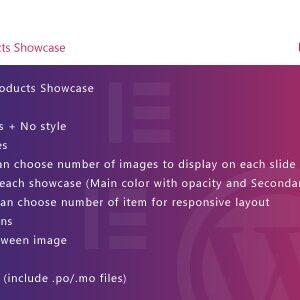 دانلود افزونه وردپرس WooCommerce Products Showcase برای المنتور