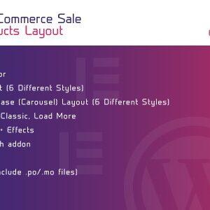 دانلود افزونه ووکامرس Sale Products Layout برای المنتور