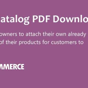 دانلود افزونه ووکامرس WooCommerce Store Catalog PDF Download