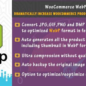 دانلود افزونه ووکامرس بهینه سازی تصاویر WooCommerce WebP