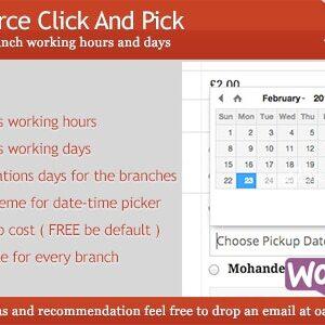 دانلود افزونه وردپرس لوکال پیکاپ Woocommerce Click And Pick
