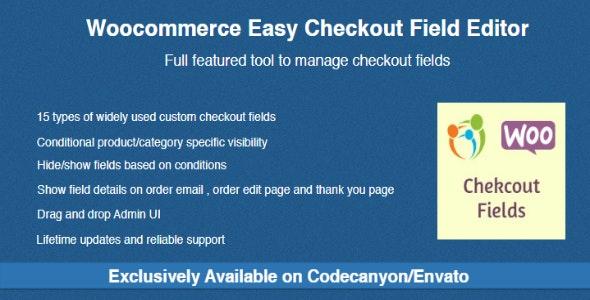 دانلود افزونه ووکامرس Woocommerce Easy Checkout Field Editor