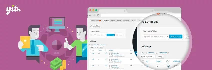 دانلود افزونه ووکامرس YITH WooCommerce Affiliates Premium