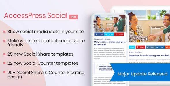 دانلود افزونه وردپرس شبکه اجتماعی AccessPress Social Pro