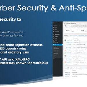 دانلود افزونه وردپرس امنیتی WP Cerber Security Pro