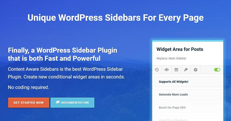 دانلود افزونه وردپرس سایدبار Content Aware Sidebars Pro