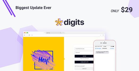 دانلود افزونه وردپرس ثبت نام و ورود با شماره موبایل Digits