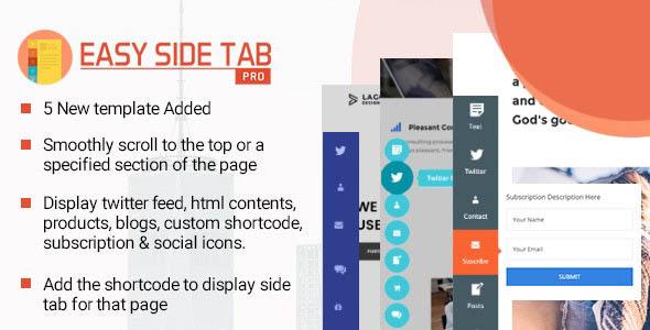 دانلود افزونه وردپرس تب شناور Easy Side Tab Pro