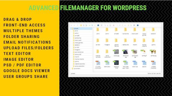 دانلود افزونه وردپرس مدیریت فایل Advanced File Manager