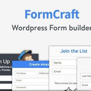 دانلود افزونه وردپرس فرم ساز FormCraft